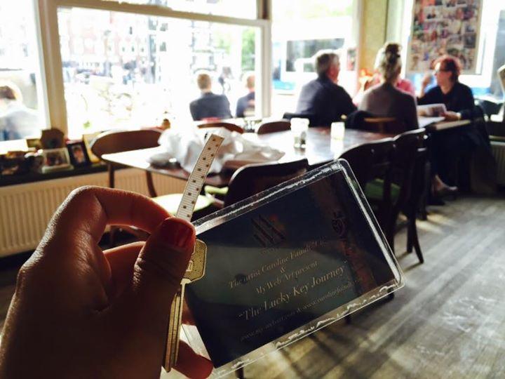 Dans un restaurant cosy à Amsterdam
