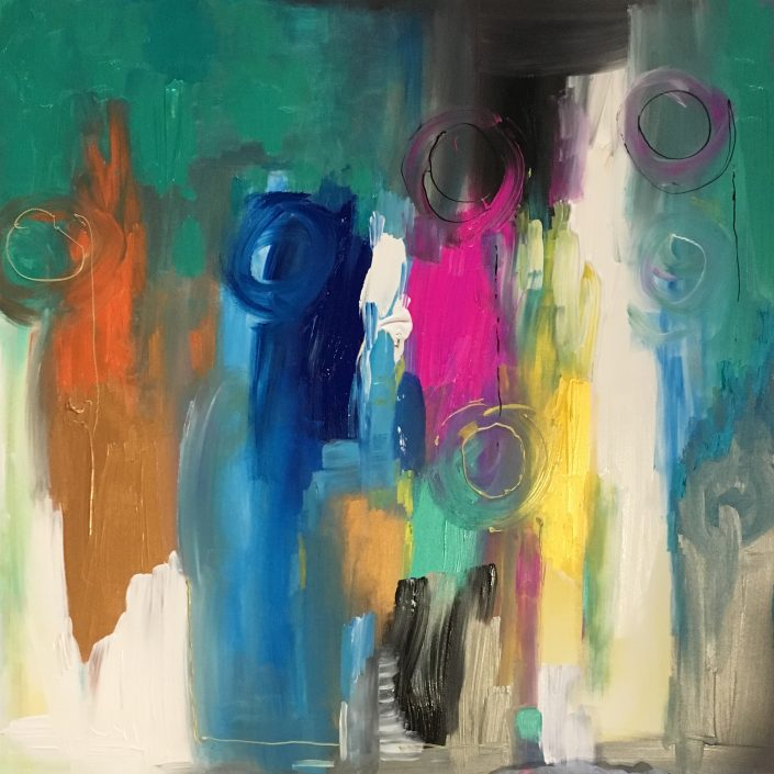 toile Azur - Caroline Faindt 2017