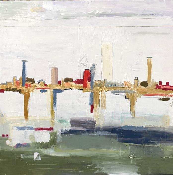 Peinture sur toile techniques mixtes 100 x 10
