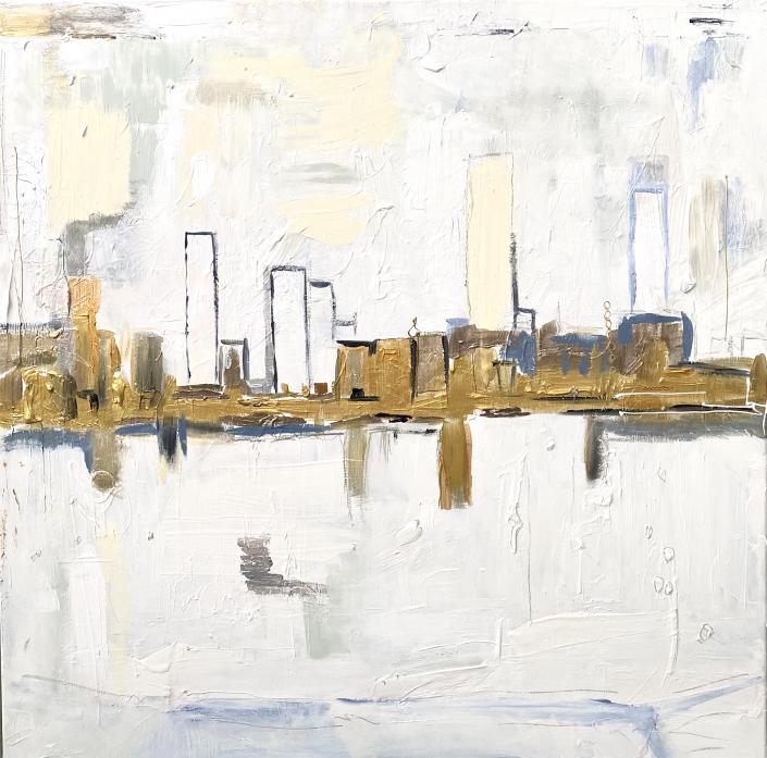 Peinture sur toile techniques mixtes 100 x 100 cm